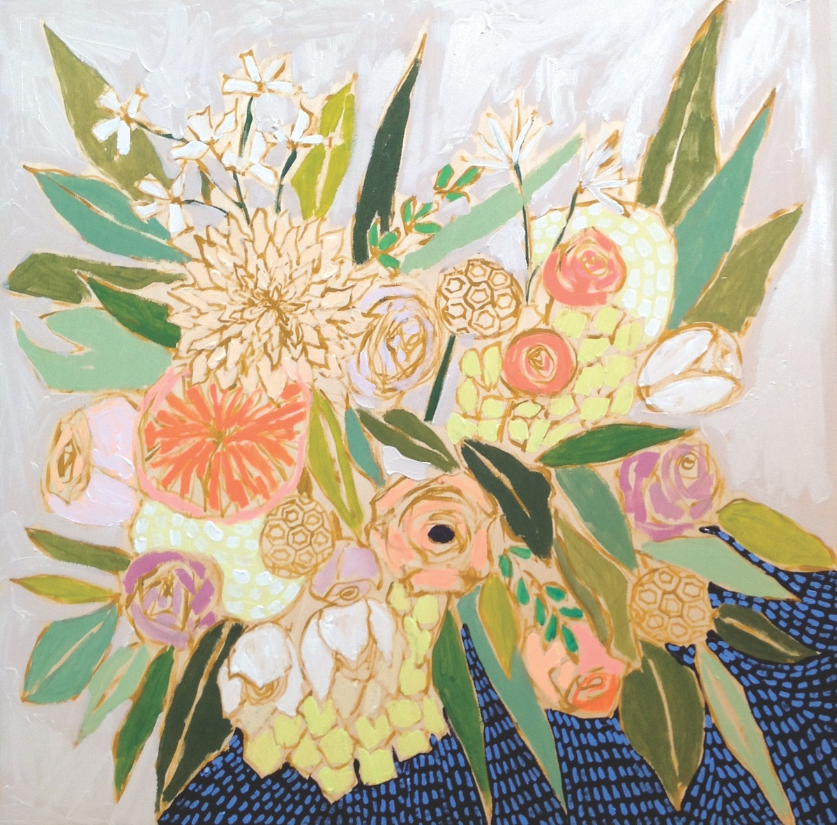 floral painting by artist lulie wallace