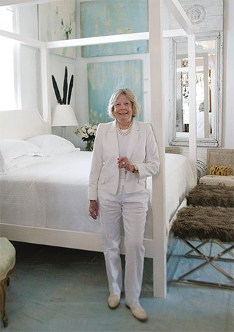 The designer looks the very definition of cool in her New Orleans shop, Bremermann Designs.   Photo as seen in the Scout Guide, New Orleans