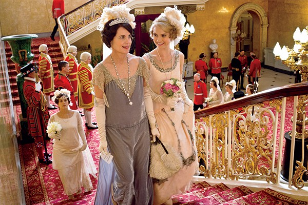 Flowers play a role in all of life's special occasions in Downton Abbey's era, including Lady Rose's presentation at Court. Photo © NICK BRIGGS/CARNIVAL FILM & TELEVISION LIMITED FOR MASTERPIECE