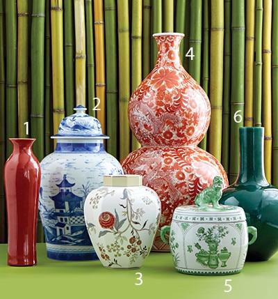 asian inspired vases