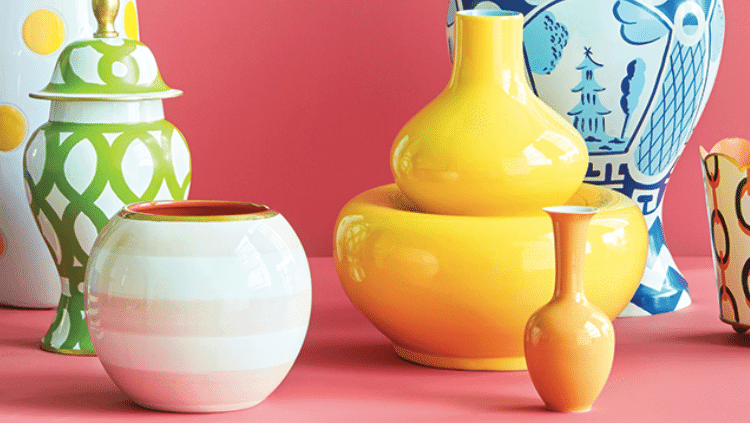 Graphic and Bright Vases