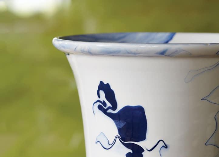 marbleized vases