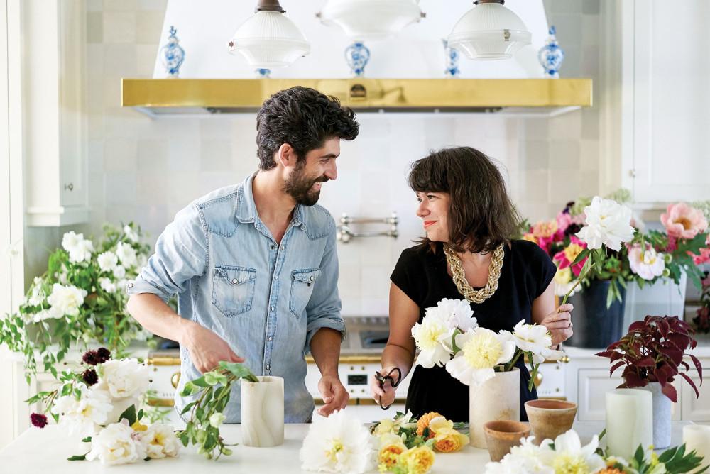 Floral designers Alicia and AdamRico of Bows & Arrows