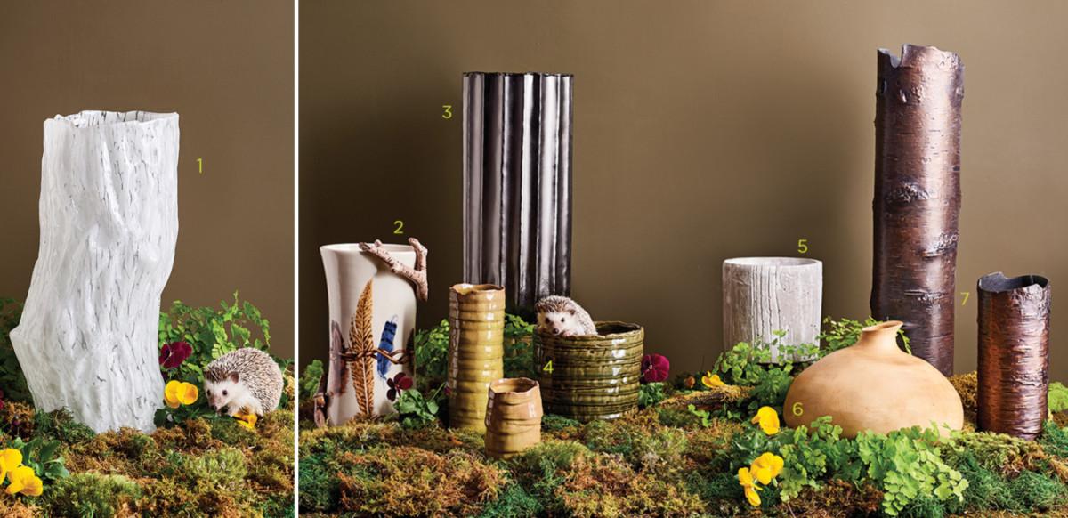 woodland inspired vases
