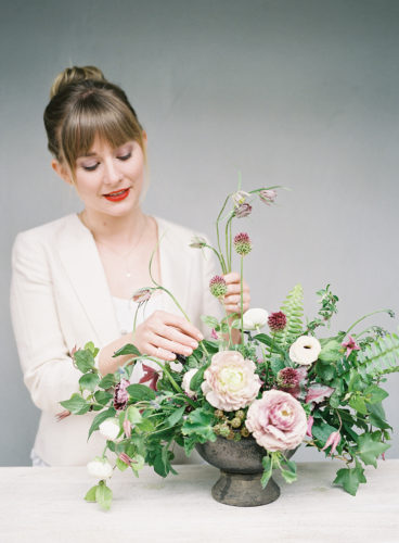 Kelly Perry of Philosophy Flowers and Team Flower, who is developing a curriculum of free floral design activities for children