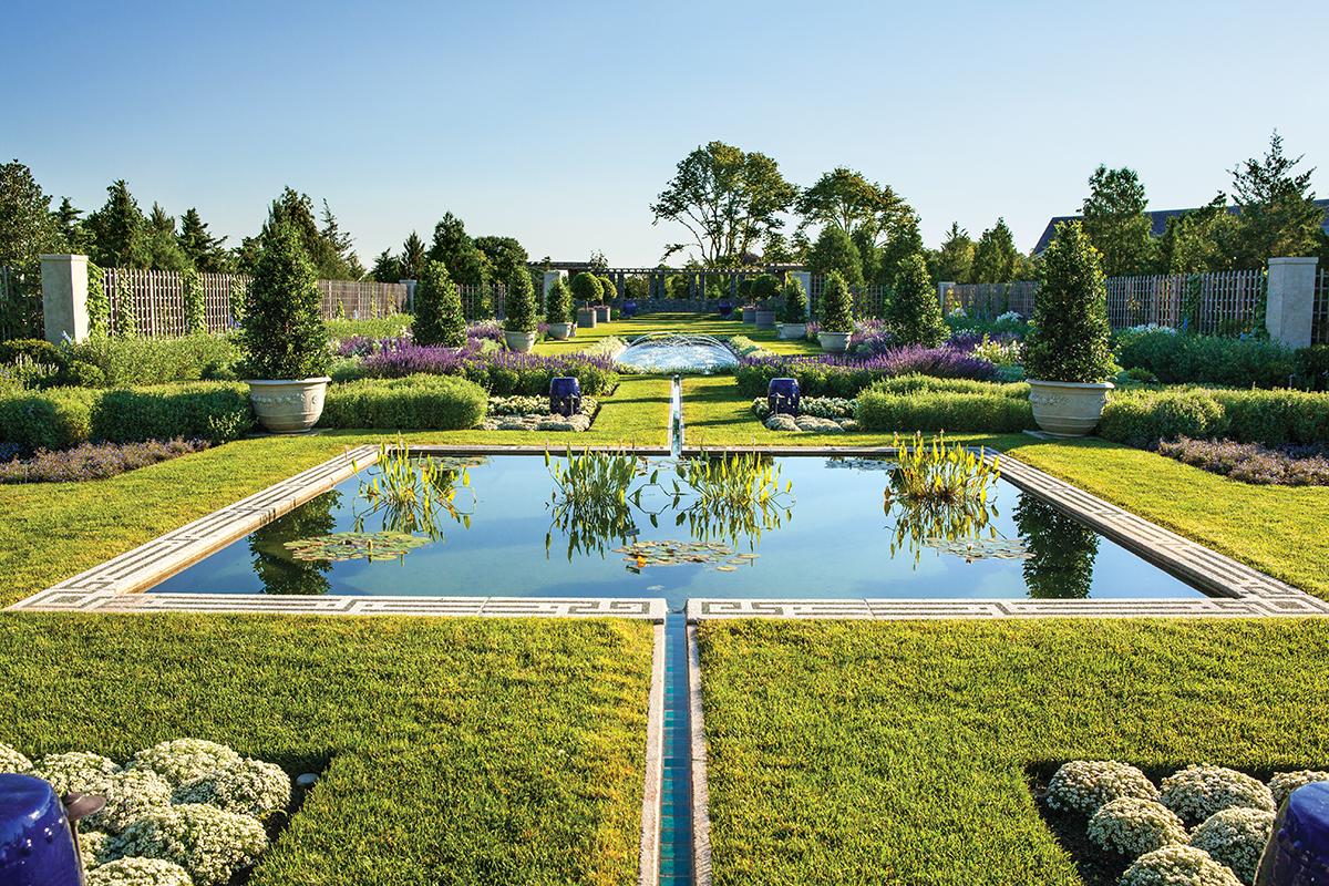 water features, Newport's Blue Garden
