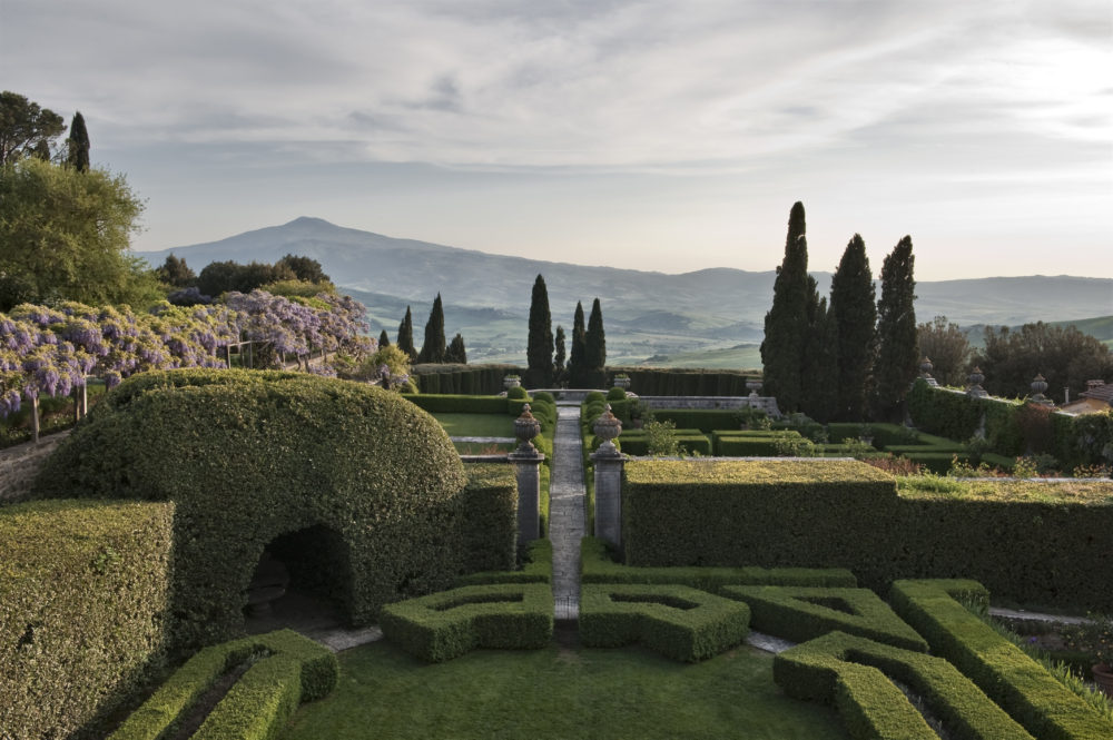 La Foce, Chianciano Terme, Tuscany, Italy. Garden designed in the 1930's by Cecil Pinsent for Iris Origo and her family.