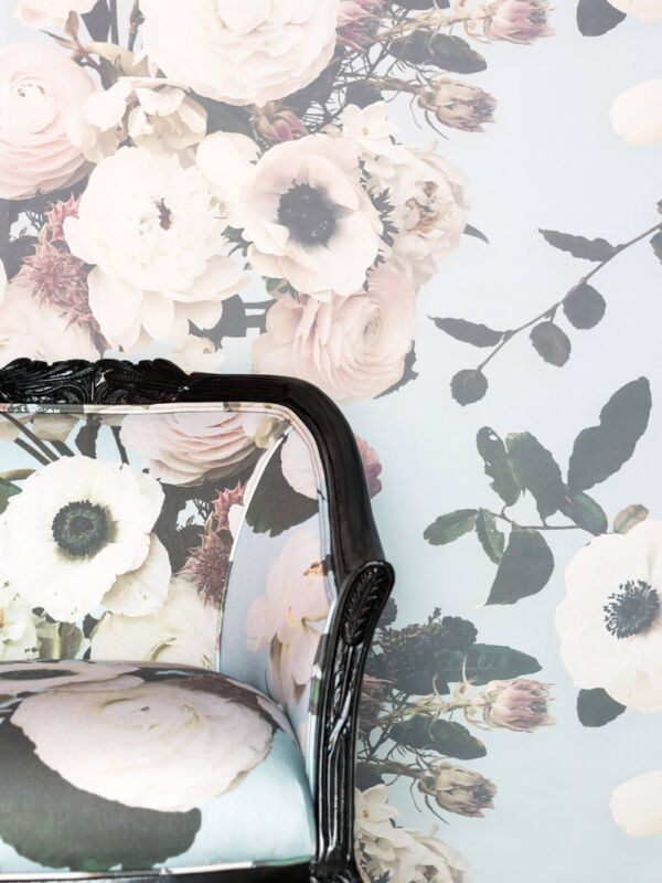 floral wallpaper and upholstery by Ashley Woodson Bailey