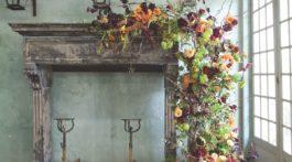 fall mantel piece arrangement