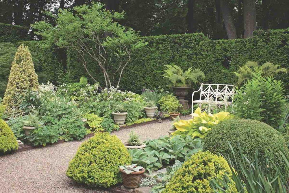 black and white newport garden