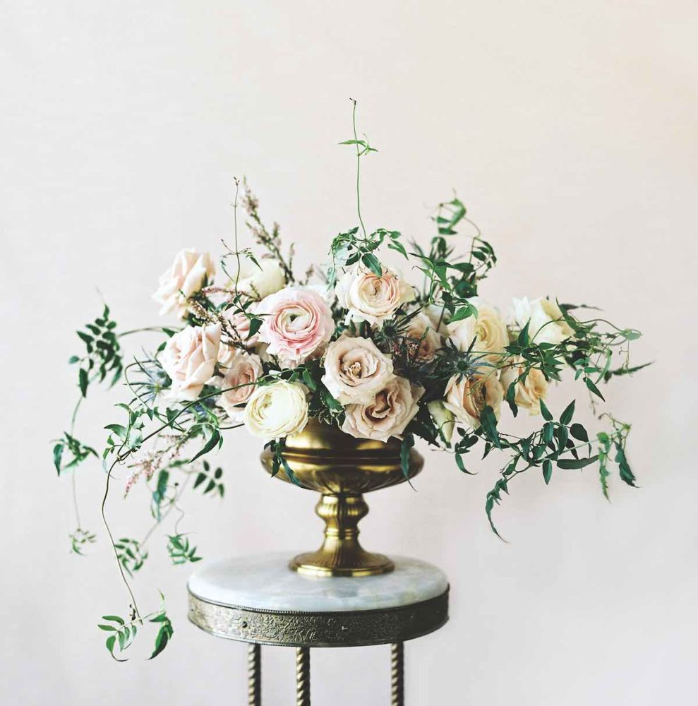 sarah winward, romantic flower arrangements