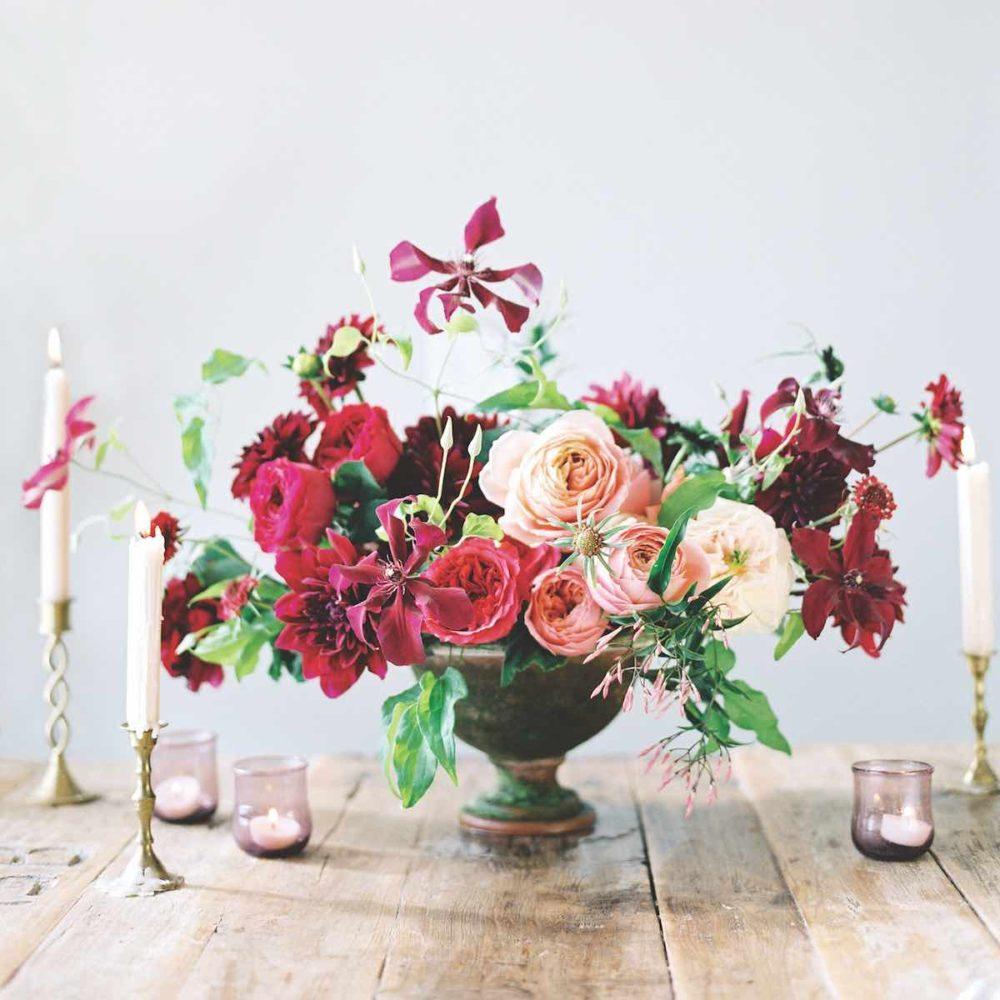 sara winward, romantic flower arrangements