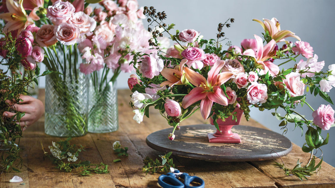ingrid carozzi, all-pink arrangement