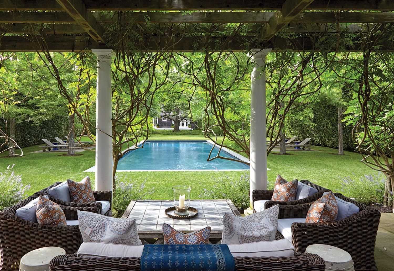 hamptons houses, pool