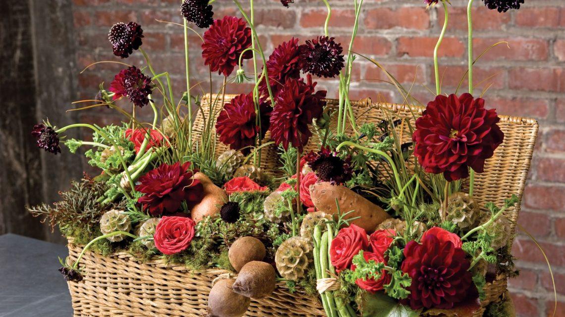 vegetable arrangement, thanksgiving centerpiece