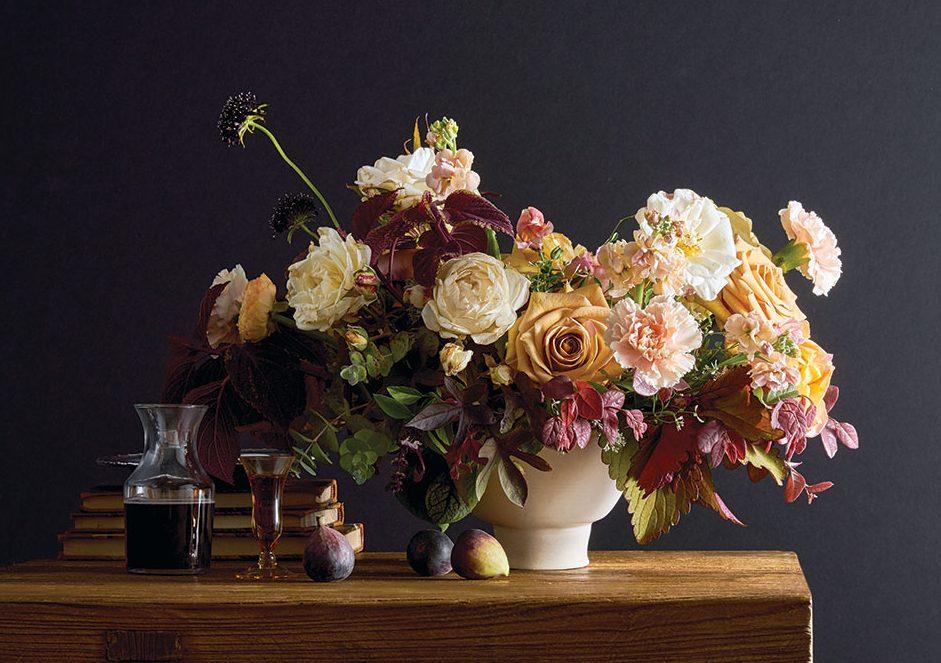 autumn palette arrangement