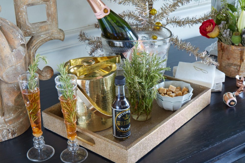 christmas luncheon, champagne cocktail bar