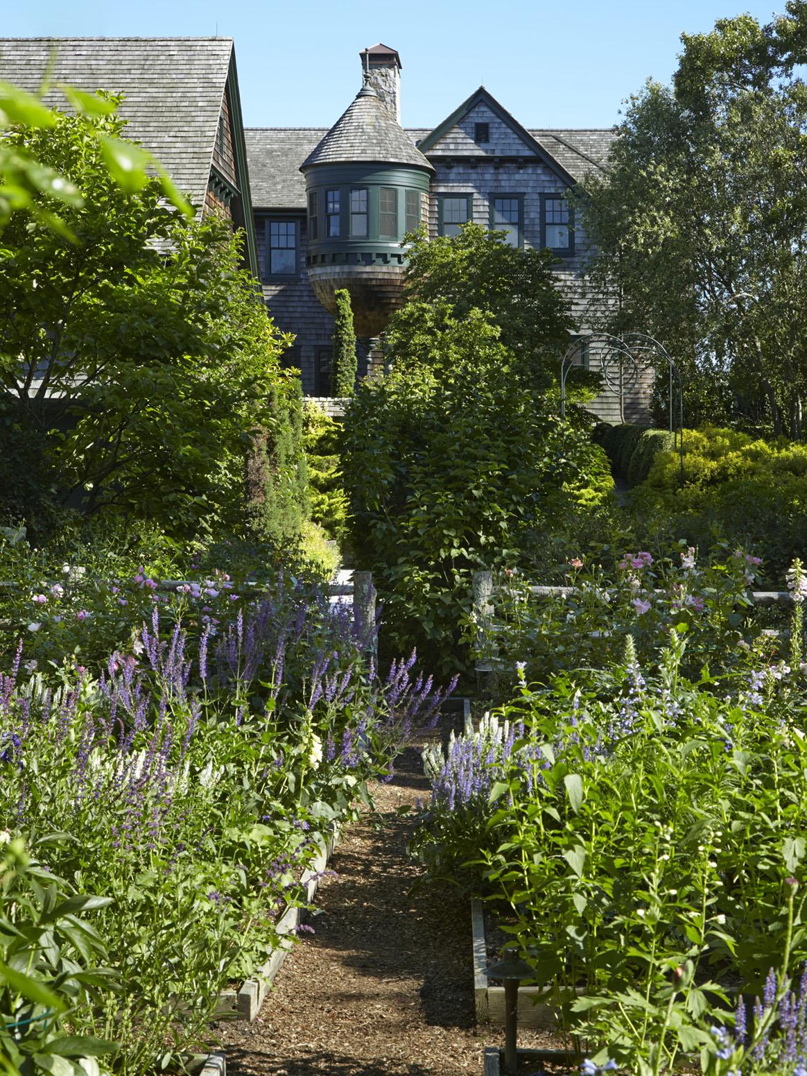 the Moraine house, Hamptons garden