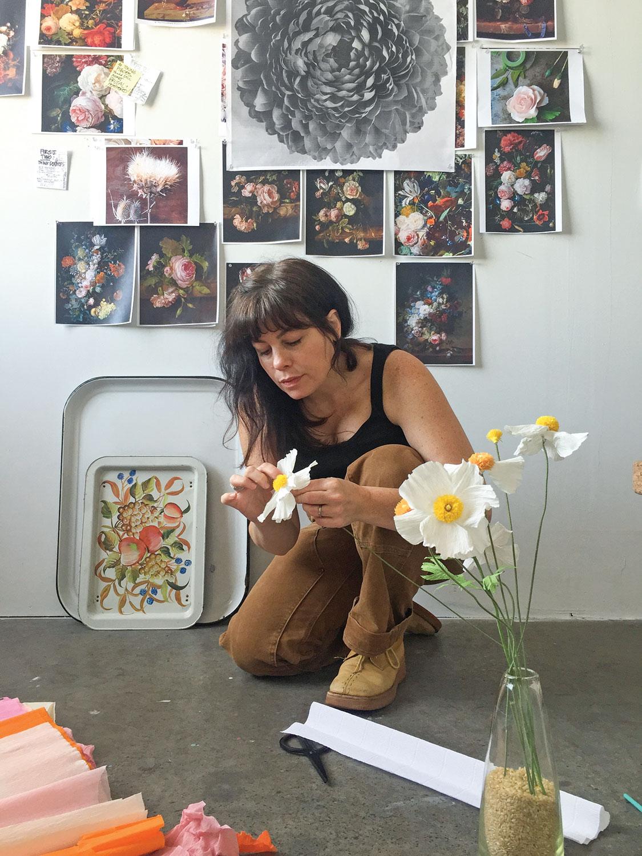 paper flowers artist