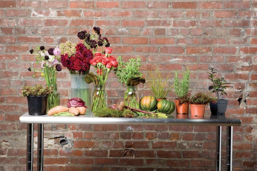 vegetable arrangement how-to, thanksgiving centerpiece