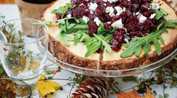 Beet, Quinoa and Goat Cheese Salad