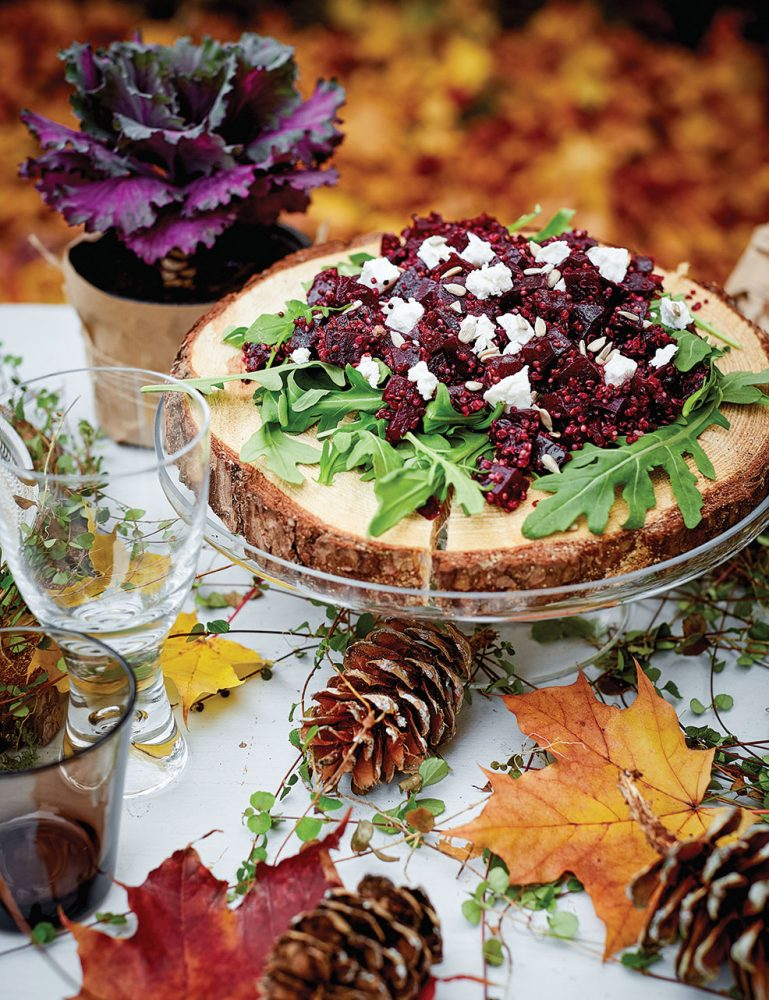 fall recipes, Beet, Quinoa and Goat Cheese Salad