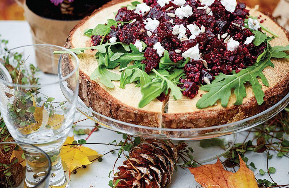 fall recipes, Beet, Quinoa and Goat Cheese Salad