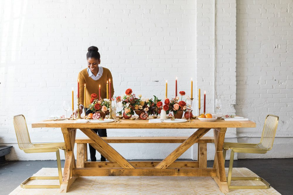 holiday table centerpiece, thanksgiving table centerpiece