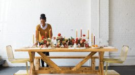 floral designer Kaylyn Hewitt's fall table