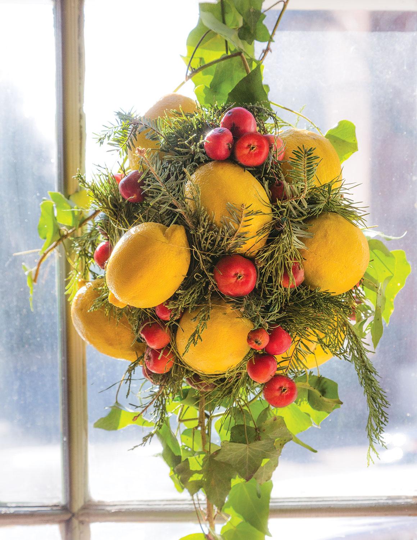 lemon kissing ball by Laura Dowling