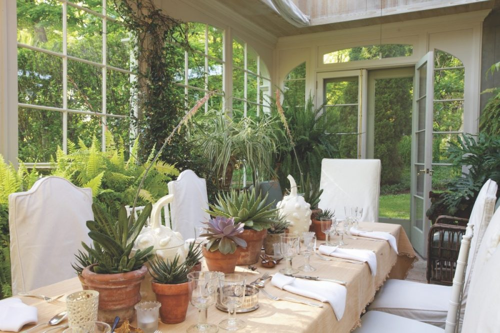 Bunny Williams garden, conservatory