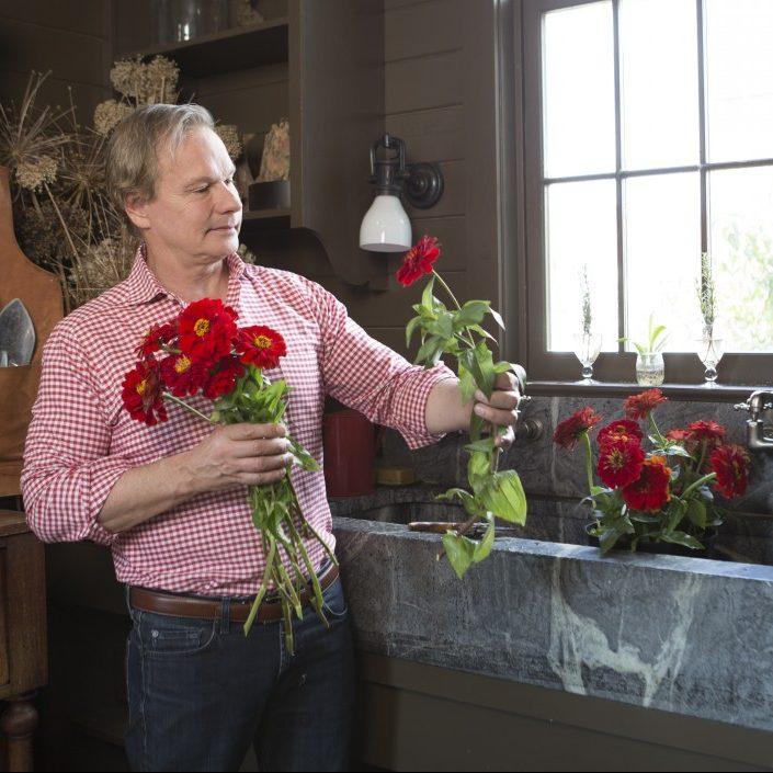 zinnia varieties, zinnia flowers, growing zinnias, p. allen smith