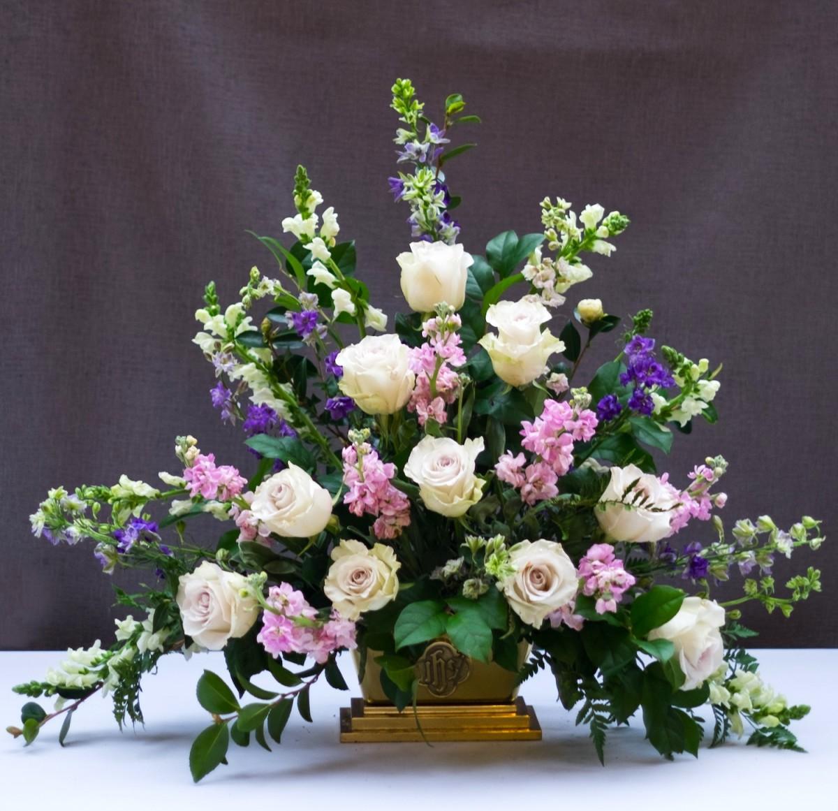 Classic Triangle Church Flower Arrangement Flower Magazine