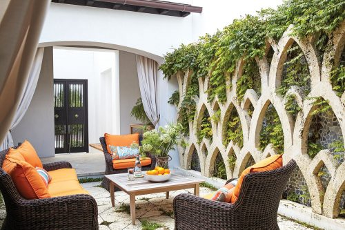 Courtyard designed by Paige Sumblin Schnell