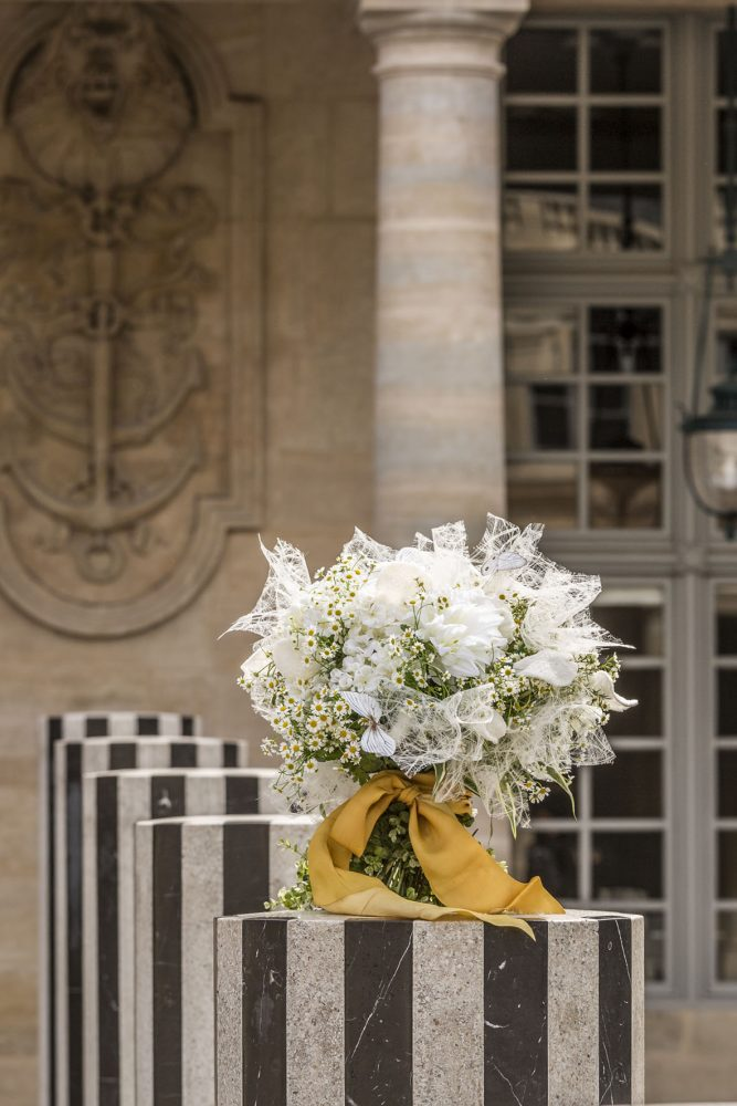 Laura Dowling bouquet at Colonnes de Buren, Paris