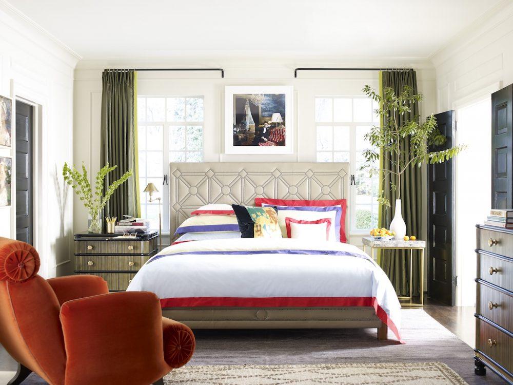 Interior designer Jeffrey, bedroom Bilhuber