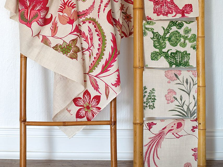 Samples of Debby Tenquist's Incredible India textile collection. Photo by Marianne Swankhart