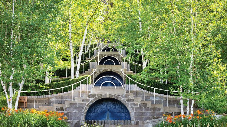 Fletcher Steele's iconic Blue Steps at Naumkeag