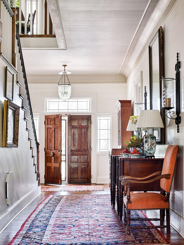 Photo of the Martin family's foyer designed by James Farmer.