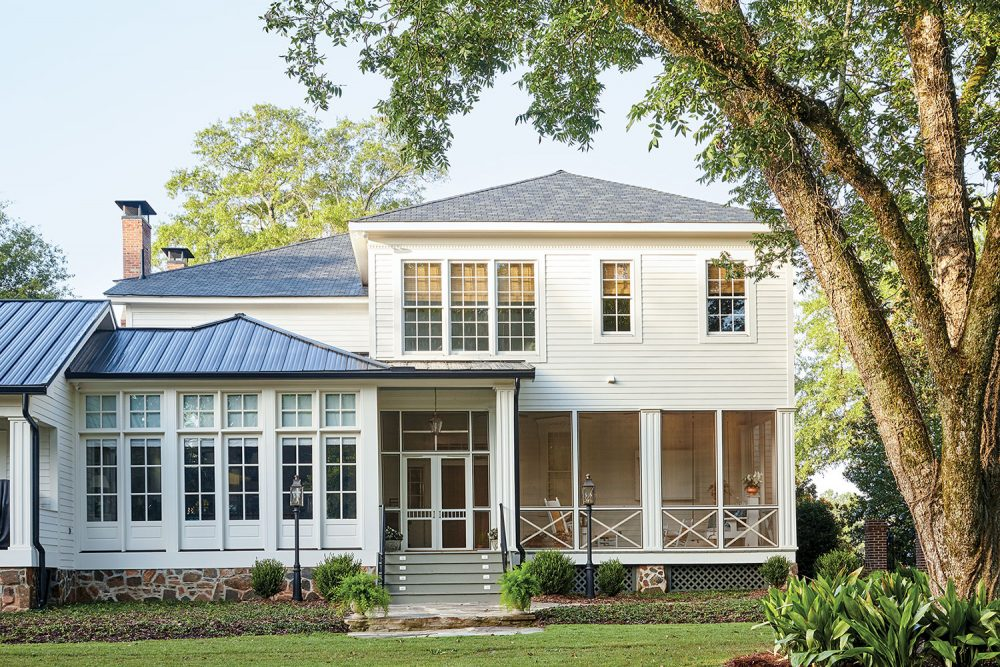 Back view of McCurdy Plantation, owned today by the Martin in Oak Bowery, Alabama