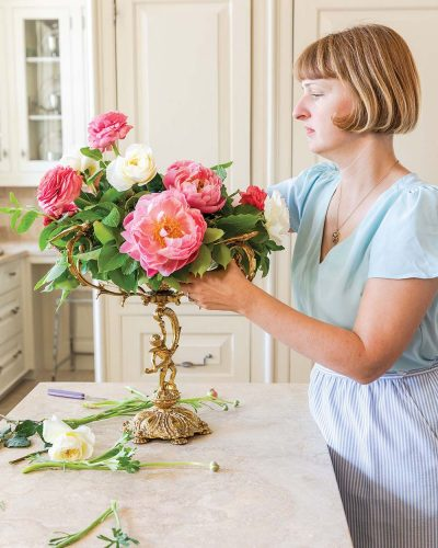 """Step 6 photo: adding """"Patience"""" roses"""