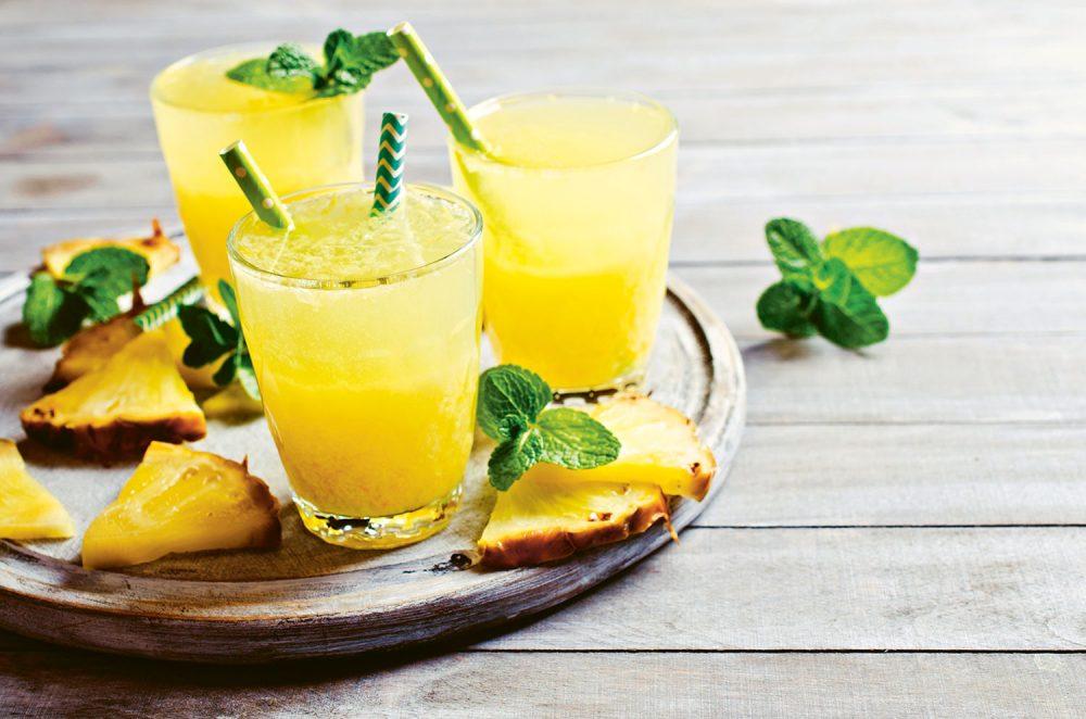 David Hurst's Tropical Sparkles mocktails, a nonalcoholic beverage