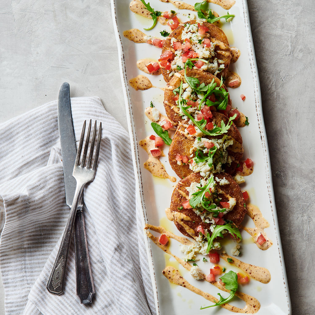 farm-to-table fried green tomatoes