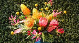 Tropical Flower Arrangement by Jessica Cohen