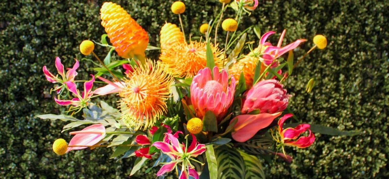 Tropical Flower Arrangement by Jessica Cohen