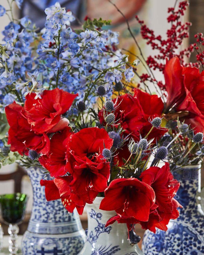 Amaryllis Christmas Flower Arrangement