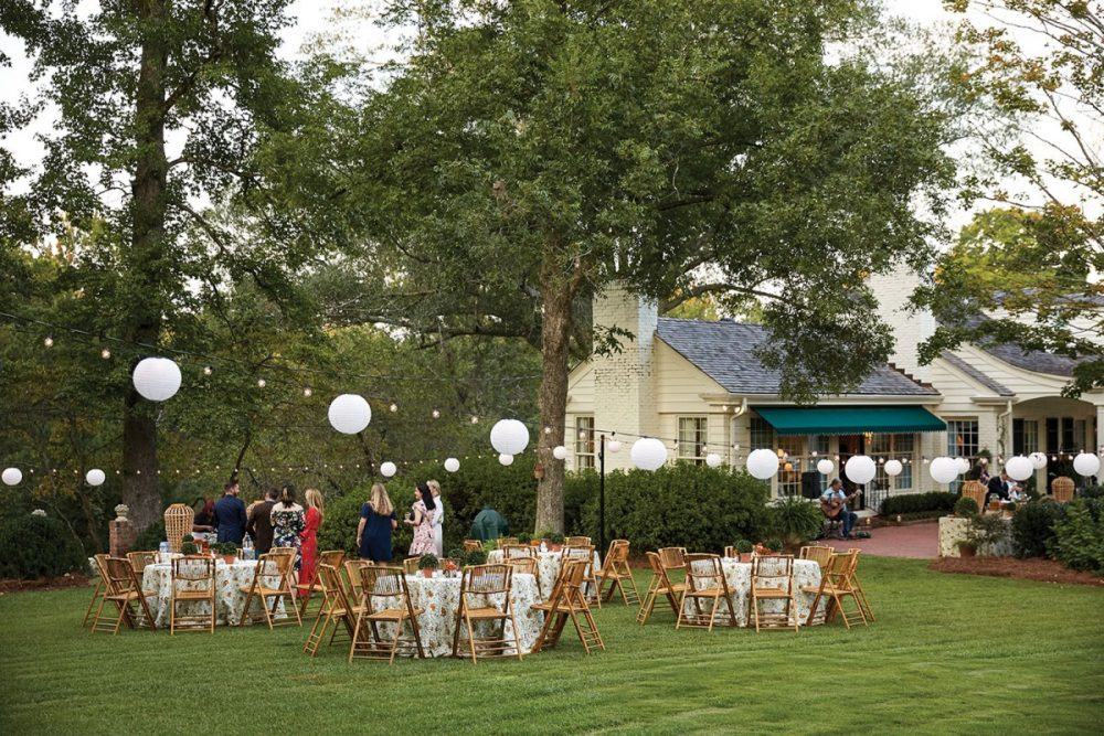 outdoor party setup