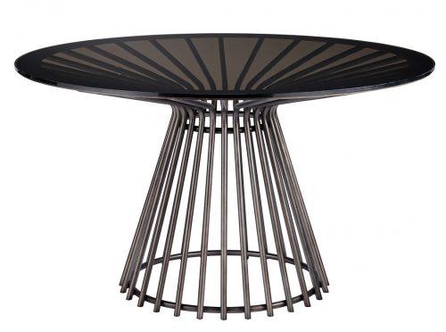 modern black circular table