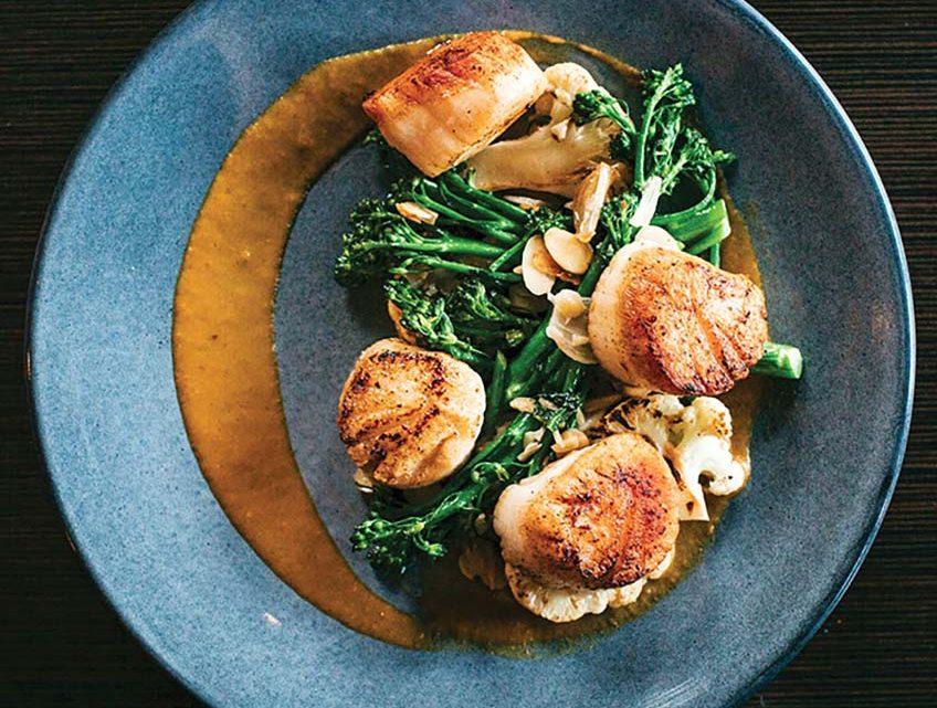 Best Restaurants in Richmond, Virginia: an elegant scallop dish at Heritage