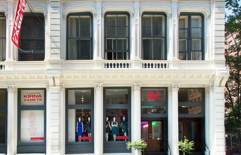 Kirna Zabete store in a historic New York building